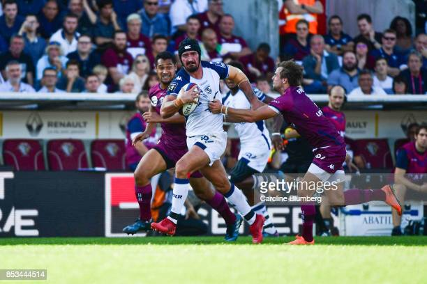 Alexandre Dumoulin of Montpellier during the Top 14 match between Union Bordeaux Begles and Montpellier Herault rugby on September 23 2017 in...