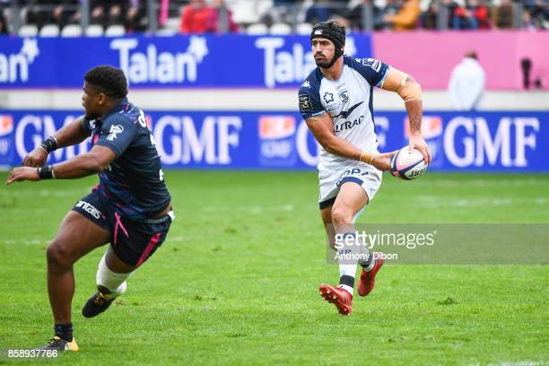 Alexandre Dumoulin of Montpellier during the Top 14 match between Stade Francais and Montpellier on October 7 2017 in Paris France