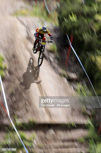 Alexandre Fayolle of Polygon UR during day two of the 2017 UCI Mountain Bike World Cup at Fort William