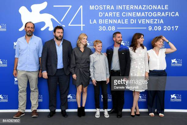 Alexandre Gavras Denis Menochet Lea Drucker Thomas Gioria Xavier Legrand Mathilde Auneveux and Sophie Pincemaille walk the red carpet ahead of the...