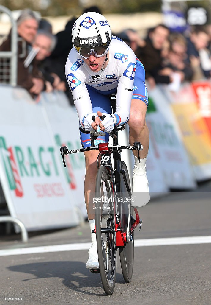 Alexandre Geniez of France and Team FDJ rides during the prologue of 2.9 km of the 2013 Paris-Nice on March 3, 2013 in Houilles, Yvelines, France.