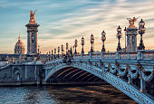 Bridge Alexandre III and Hotel des Invalides in Paris