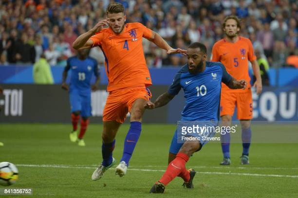 Alexandre Lacazette forward of France Football team duringthe FIFA 2018 World Cup Qualifier between France and Nederlands at Stade de France on...