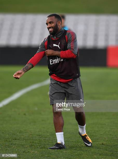 Alexandre Lacazette of Arsenal during the Arsenal Training Session at Koragah Oval on July 11 2017 in Sydney Australia