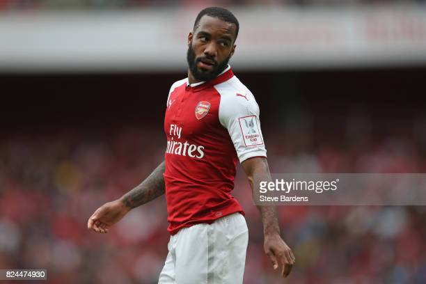 Alexandre Lacazette of Arsenal during the Emirates Cup match between Arsenal and Sevilla FC at Emirates Stadium on July 30 2017 in London England