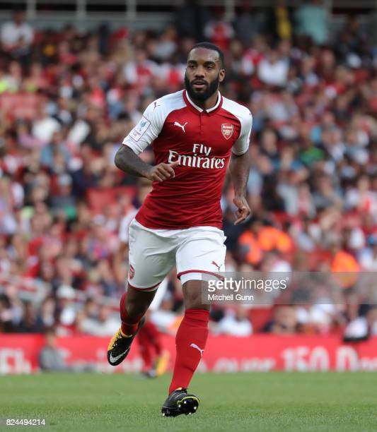 Alexandre Lacazette of Arsenal during the Emirates Cup match between Arsenal and Sevilla at The Emirates Stadium on July 30 2017 in London United...