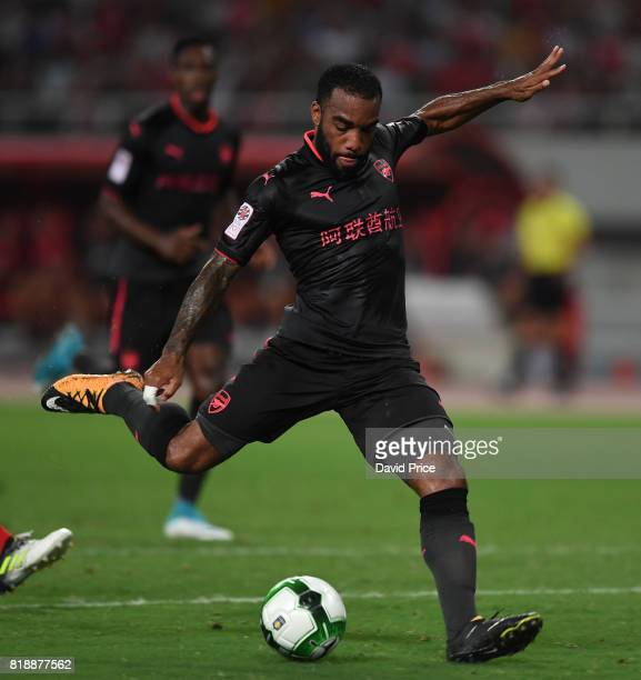 Alexandre Lacazette of Arsenal during the match between Bayern Munichand Arsenal at Shanghai Stadium on July 19 2017 in Shanghai China