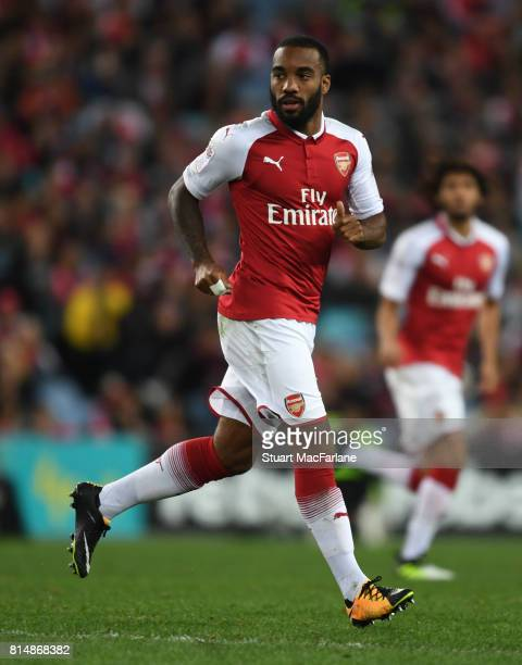 Alexandre Lacazette of Arsenal during the match between the Western Sydney Wanderers and Arsenal FC at ANZ Stadium on July 15 2017 in Sydney Australia