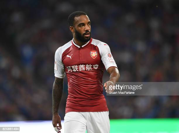 Alexandre Lacazette of Arsenal during the pre season friendly between Arsenal and Chelsea at the Birds Nest on July 22 2017 in Beijing