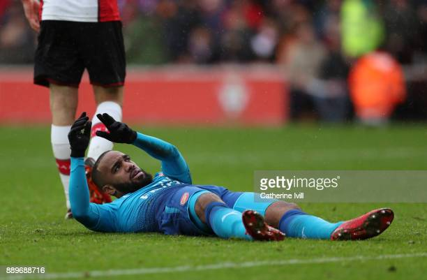 Alexandre Lacazette of Arsenal during the Premier League match between Southampton and Arsenal at St Mary's Stadium on December 10 2017 in...