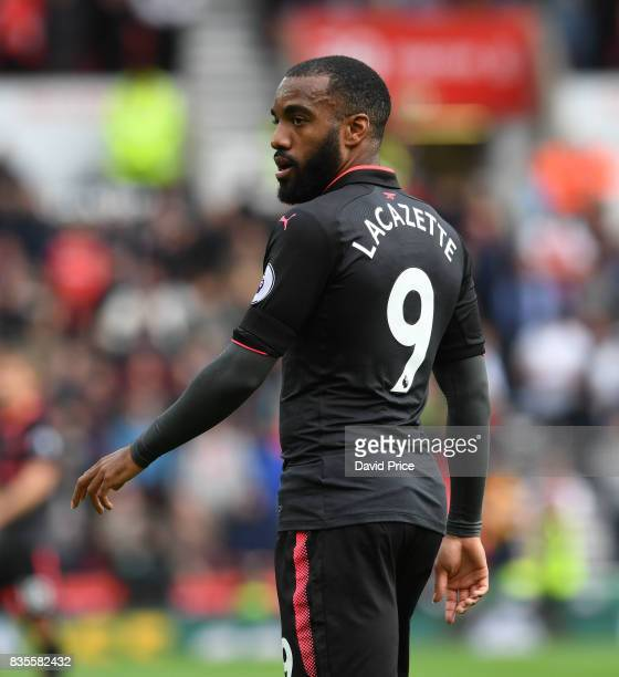 Alexandre Lacazette of Arsenal during the Premier League match between Stoke City and Arsenal at Bet365 Stadium on August 19 2017 in Stoke on Trent...