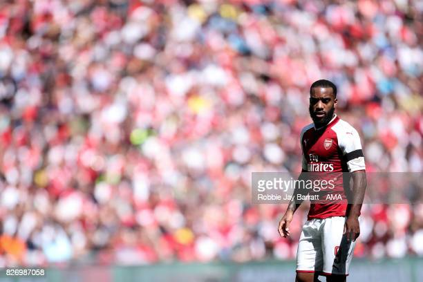 Alexandre Lacazette of Arsenal during the The FA Community Shield between Chelsea and Arsenal at Wembley Stadium on August 6 2017 in London England