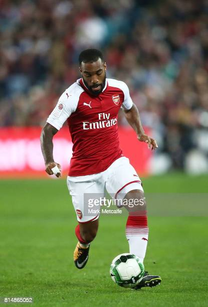 Alexandre Lacazette of Arsenal in action during the match between the Western Sydney Wanderers and Arsenal FC at ANZ Stadium on July 15 2017 in...