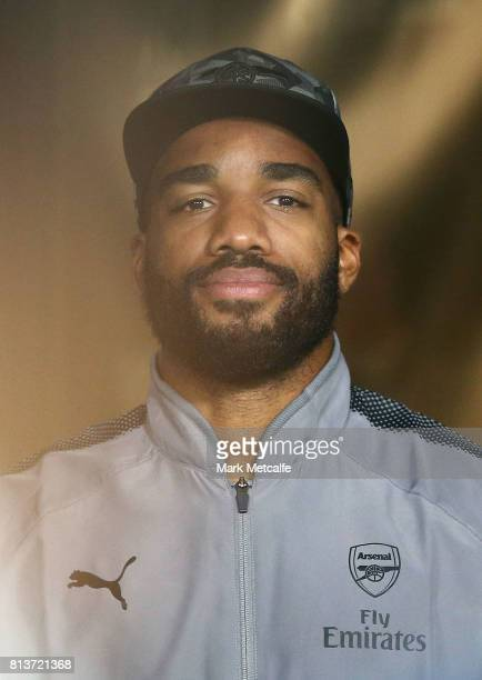 Alexandre Lacazette of Arsenal looks on before the match between Sydney FC and Arsenal FC at ANZ Stadium on July 13 2017 in Sydney Australia