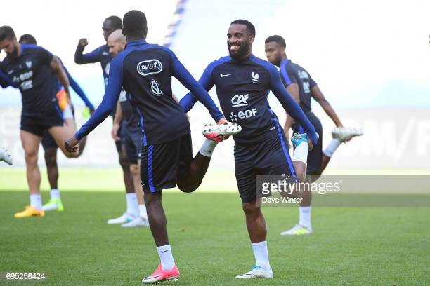 Alexandre Lacazette of France during the France training session at Stade de France on June 12 2017 in Paris France