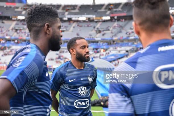 Alexandre Lacazette of France during the International friendly match between France and England at Stade de France on June 13 2017 in Paris France
