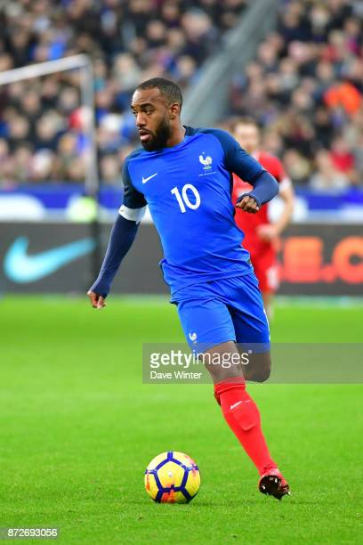 Alexandre Lacazette of France during the international friendly match between France and Wales at Stade de France on November 10 2017 in Paris France