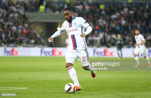 Alexandre Lacazette of Lyon during the UEFA Europa League semi final second leg match between Olympique Lyonnais and Ajax Amsterdam at Parc OL on May...