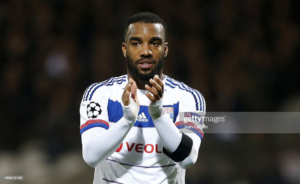 <a gi-track='captionPersonalityLinkClicked' href=/galleries/search?phrase=Alexandre+Lacazette&family=editorial&specificpeople=6927653 ng-click='$event.stopPropagation()'>Alexandre Lacazette</a> of Lyon reacts during the UEFA Champions league match between Olympique Lyonnais (OL) and FC Zenit St Petersburg at Stade de Gerland on November 4, 2015 in Lyon, France.