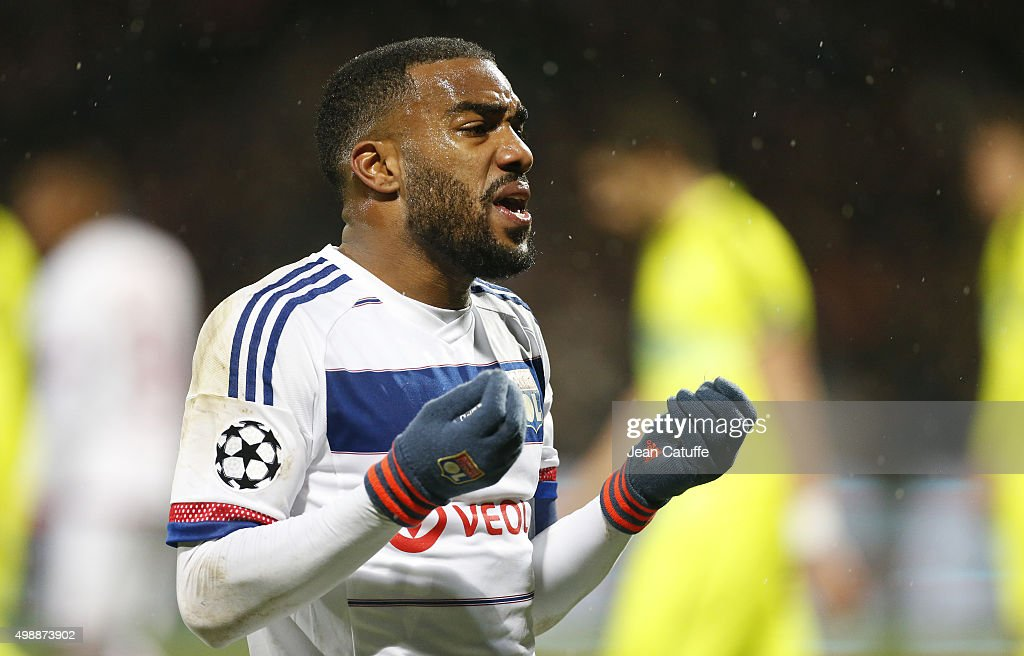 <a gi-track='captionPersonalityLinkClicked' href=/galleries/search?phrase=Alexandre+Lacazette&family=editorial&specificpeople=6927653 ng-click='$event.stopPropagation()'>Alexandre Lacazette</a> of Lyon reacts during the UEFA Champions League match between Olympique Lyonnais (Lyon, OL) and KAA Gent (Ghent, La Gantoise) at Stade de Gerland on November 24, 2015 in Lyon, France.