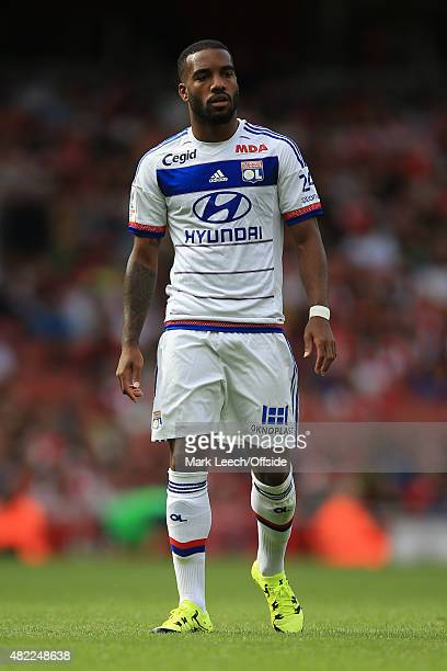 Alexandre Lacazette of Olympique Lyonnais during the Emirates Cup match between Arsenal and Olympique Lyonnais at the Emirates Stadium on July 25...
