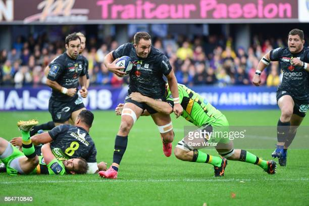 Alexandre Lapandry of Clermont during the European Rugby Champions Cup match between Clermont Auvergne and Northampton Saints on October 21 2017 in...
