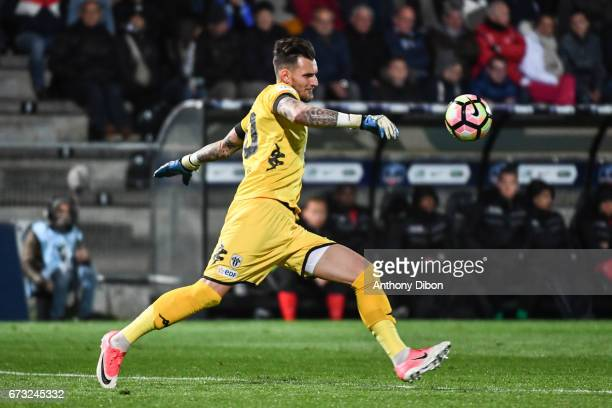 Alexandre Letellier goalkeeper of Angers during the Semi final of the French Cup match between Angers and Guingamp at Stade Jean Bouin on April 25...