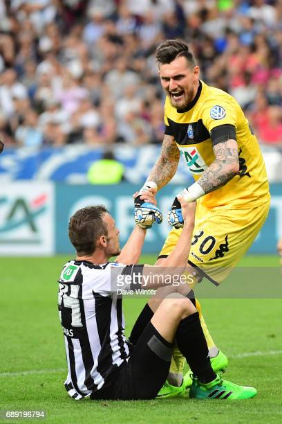 Alexandre Letellier of Angers and Romain Thomas of Angers during the National Cup Final match between Angers SCO and Paris Saint Germain PSG at Stade...