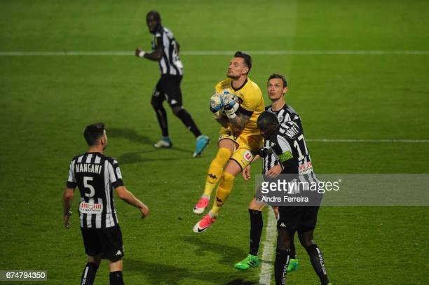 Alexandre Letellier of Angers during the French Ligue 1 match between Angers and Lyon on April 28 2017 in Angers France
