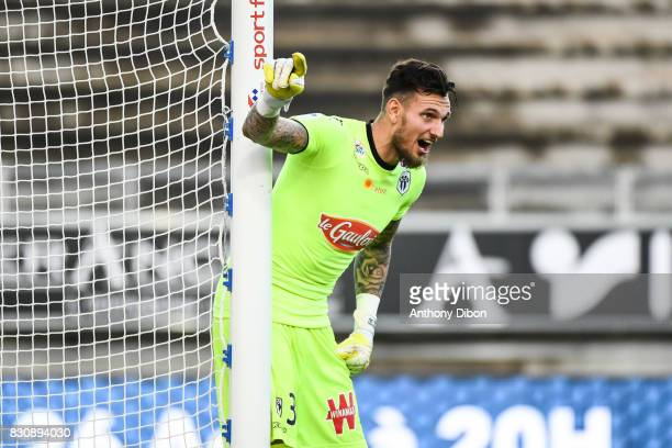 Alexandre Letellier of ANgers during the Ligue 1 match between Amiens SC and Angers SCO at Stade de la Licorne on August 12 2017 in Amiens