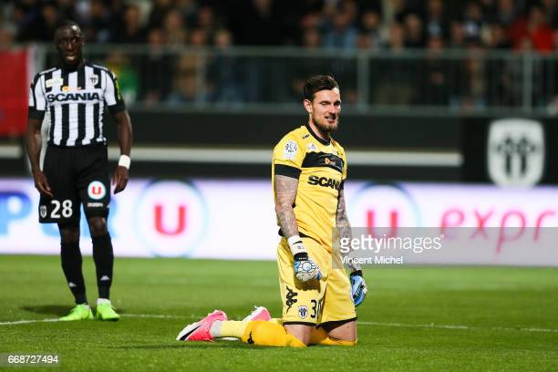 Alexandre Letellier of Angers during the Ligue 1 match between Angers SCO and Paris Saint Germain PSG on April 14 2017 in Angers France