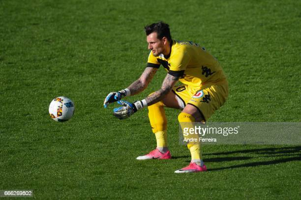 Alexandre Letellier of Angers during the Ligue 1 match between SCO Angers and AS Monaco on April 8 2017 in Angers France