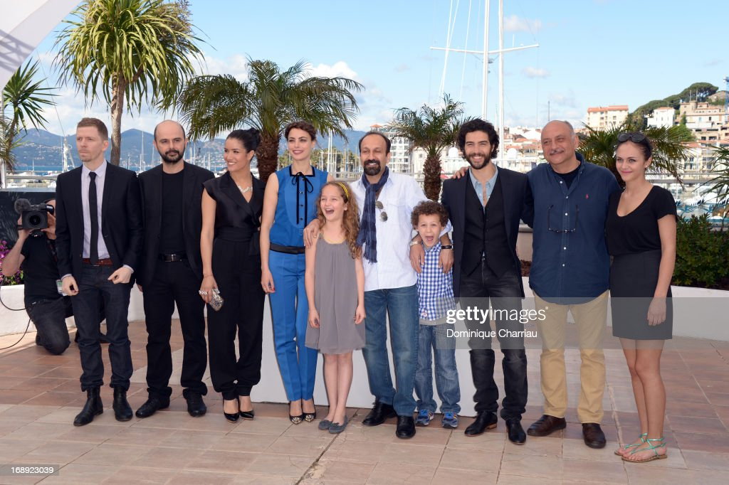 Alexandre Mallet-Guy, Ali Mosaffa, Sabrina Ouazani, Berenice Bejo, Jeanne Jestin, director Asghar Farhadi, Elyes Aguis, Tahar Rahim, Babak Karimi and Pauline Burlet attend the photocall for 'Le Passe' (The Past) during the 66th Annual Cannes Film Festival at Palais des Festivals on May 17, 2013 in Cannes, France.