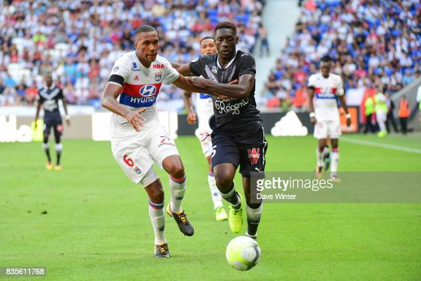 Alexandre Mendy of Bordeaux and Antonio Guedes Filho Marcelo of Lyon during the Ligue 1 match between Olympique Lyonnais and FC Girondins de Bordeaux...