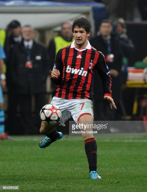 Alexandre Pato of AC Milan in action during the UEFA Champions League Group C match between AC Milan and Olympique de Marseille on November 25 2009...
