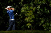 Alexandre Rocha of Brazil hits a tee shot during the first round of the Brasil Classic Presented by HSBC at the Sao Paulo Golf Club on April 4 2013...