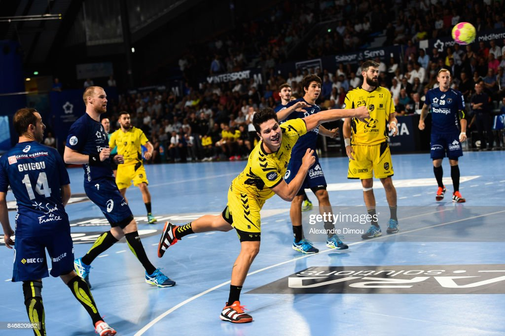 Alexandre Tritta of Chambery during Lidl Star Ligue match between Montpellier and Chambery on September 13, 2017 in Montpellier, France.