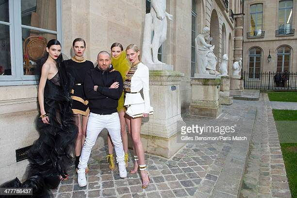 Alexandre Vauthier with his models are photographed for Paris Match on january 20 2014 in Paris France