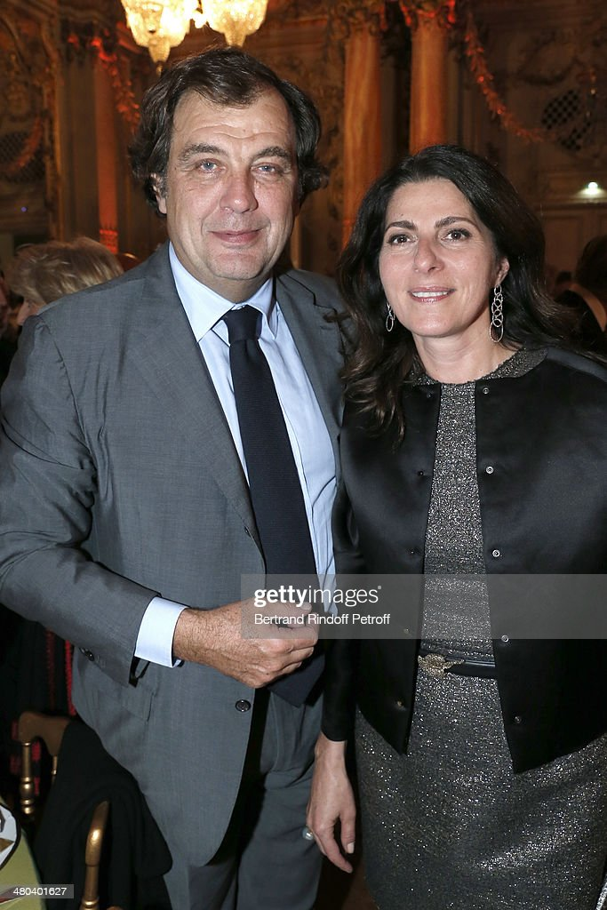 Alexandre Vilgrain and his wife Denise Vilgrain attend the dinner party of the Societe Des Amis Du Musee D'Orsay (The Friends of Orsay Museum Society) at Musee d'Orsay on March 24, 2014 in Paris, France.