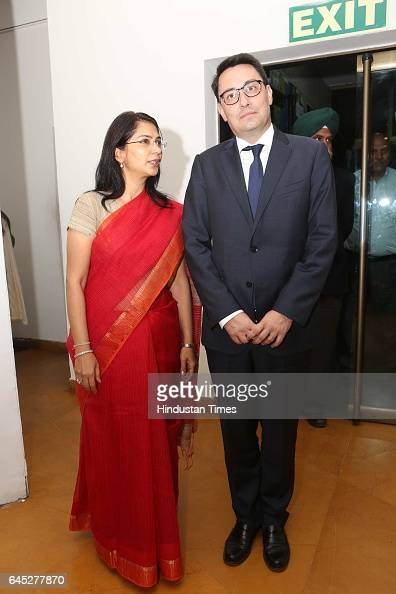 Alexandre Ziegler during the 95th birth anniversary of late artist SH Raza at Visual Art Gallery IHC on February 22 2017 in New Delhi India Raza who...