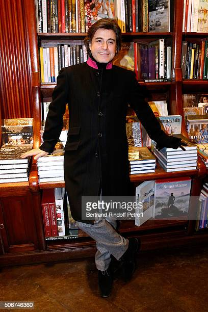 Alexandre Zouari attends Princess Gloria Von Thurn und Taxis signs her Book 'The House of Thurn und Taxis' Held at Librairie Galignani on January 25...