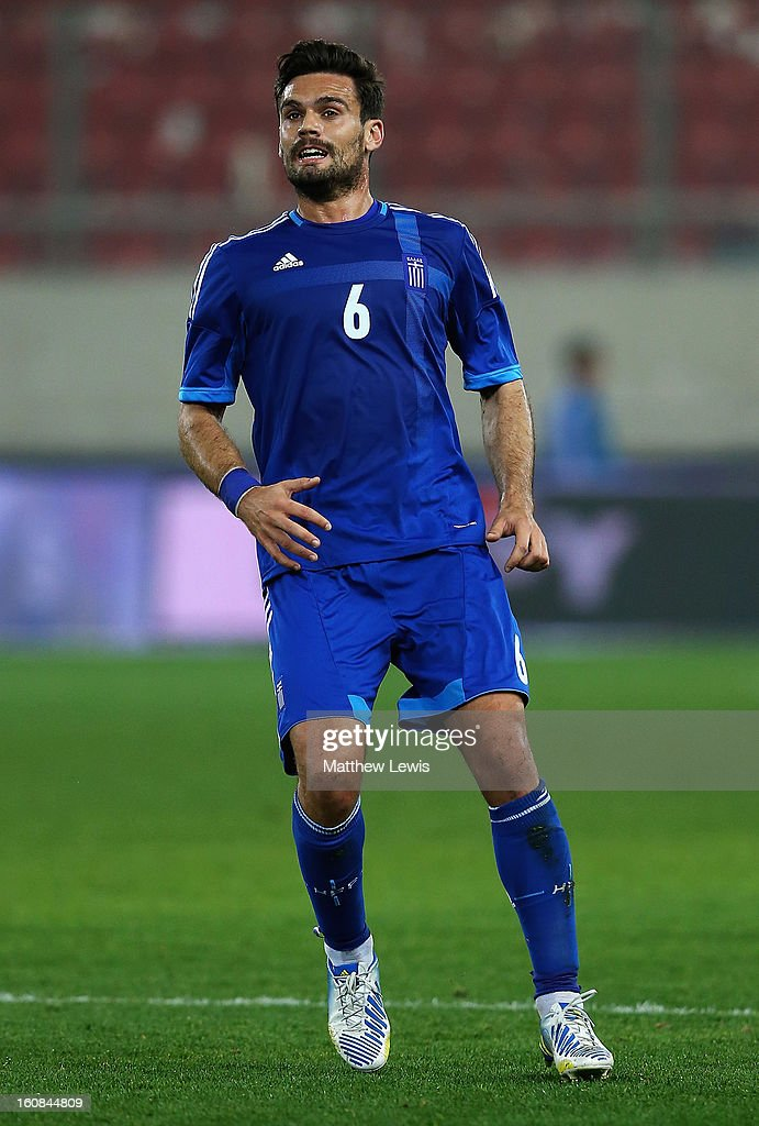 Alexandros Tziolis of Greece in action during the International Friendly match between Greece and Switzerland at Karaiskakis Stadium on February 6, 2013 in Athens, Greece.