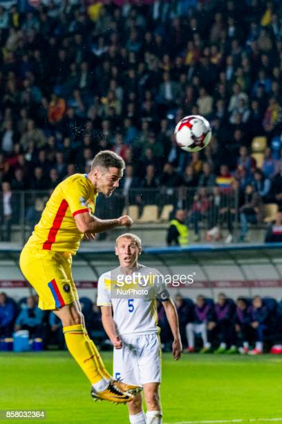 Alexandru Chipciu and Islambek Kuat during the World Cup qualifying campaign 2018 game between Romania and Kazakhstan at Ilie Oana Stadium Ploiesti...