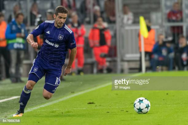 Alexandru Chipciu of RSC Anderlecht in action during the UEFA Champions League group B match between Bayern Muenchen and RSC Anderlecht at Allianz...