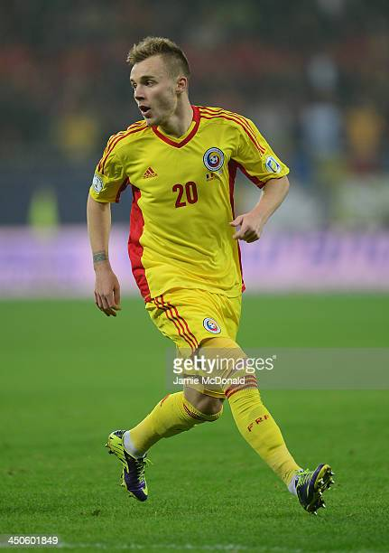 Alexandru Iulian Maxim of Romania in action during the FIFA 2014 World Cup Qualifier Playoff Second Leg match between Romania and Greece at the...
