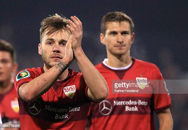 Alexandru Maxim of Stuttgart after the DFB Cup between FC Carl Zeiss Jena and VFB Stuttgart at ErnstAbbeSportfeld on October 28 2015 in Jena Germany