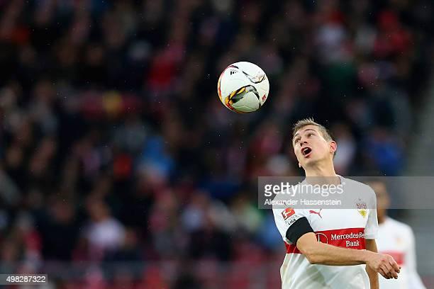 Alexandru Maxim of Stuttgart battles for the ball during the Bundesliga match between VfB Stuttgart and FC Augsburg at MercedesBenz Arena on November...