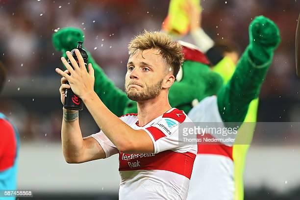 Alexandru Maxim of Stuttgart celebrates after the Second Bundesliga match between VfB Stuttgart and FC St Pauli at MercedesBenz Arena on August 8...
