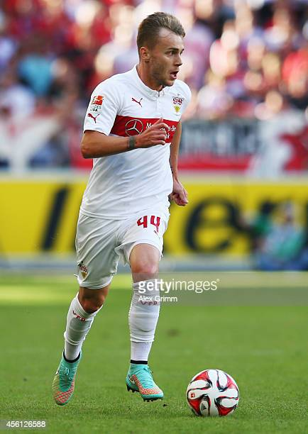 Alexandru Maxim of Stuttgart controles the ball during the Bundesliga match between VfB Stuttgart and 1899 Hoffenheim at MercedesBenz Arena on...
