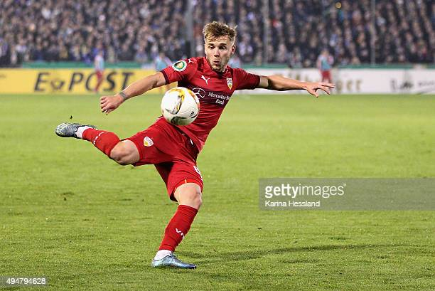 Alexandru Maxim of Stuttgart during the DFB Cup between FC Carl Zeiss Jena and VFB Stuttgart at ErnstAbbeSportfeld on October 28 2015 in Jena Germany